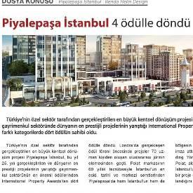 European Property Awards - Piyalepaşa İstanbul 4 ödülle döndü